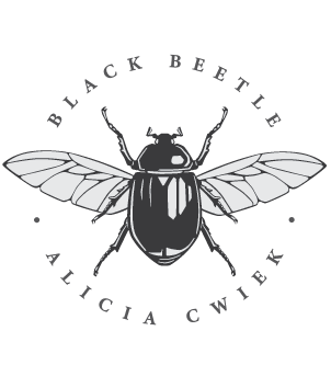 Logo final black beetle design
