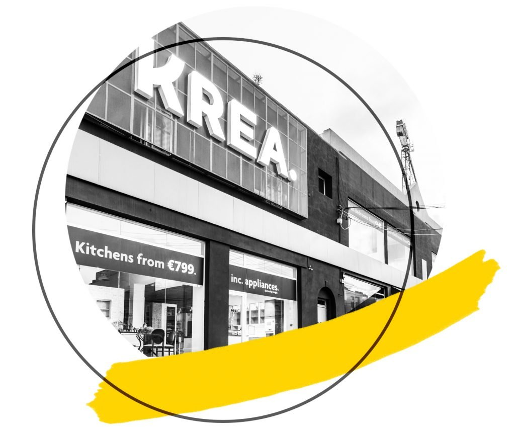 Commercial Krea showroom project cover graphic square