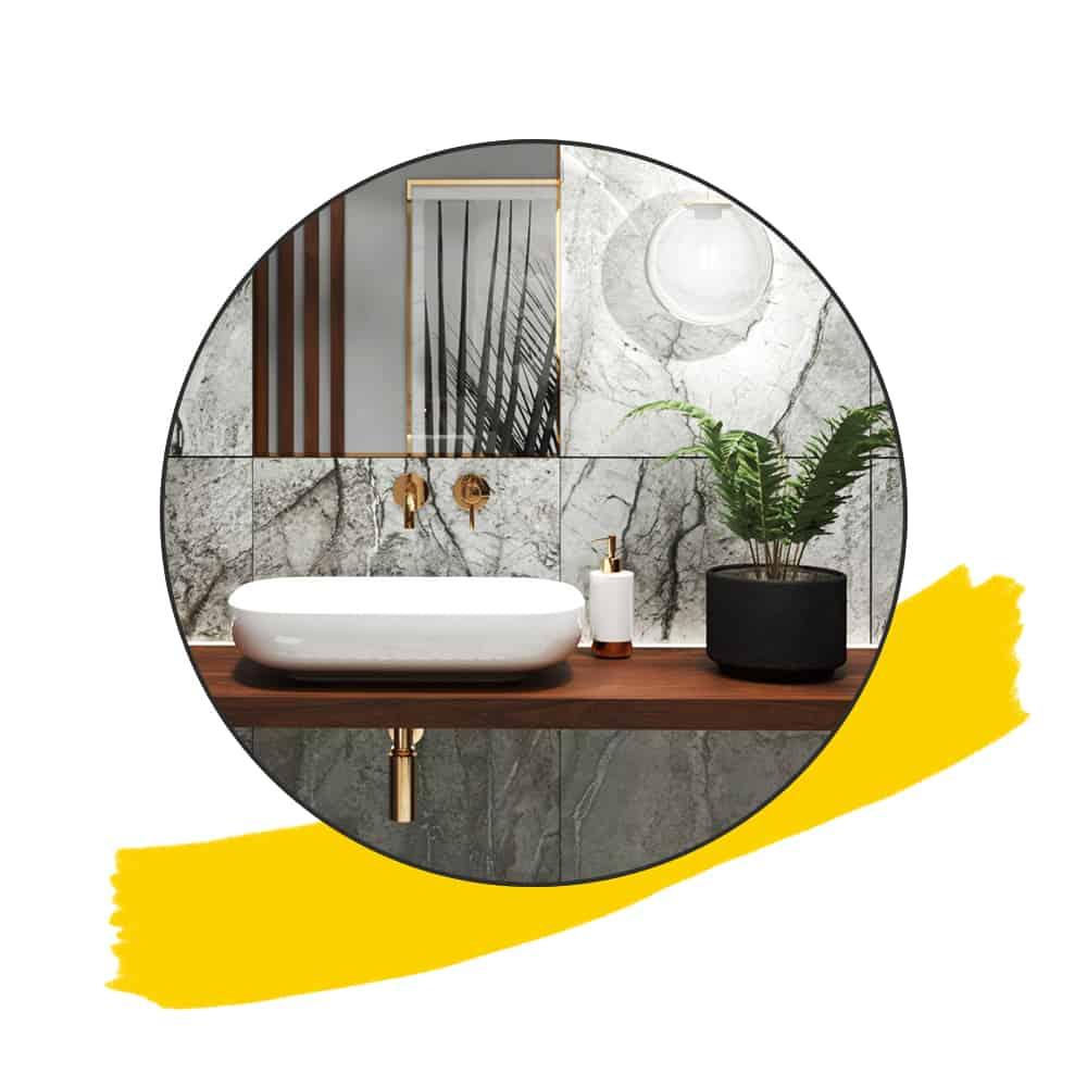 Grey marble bathroom main icon