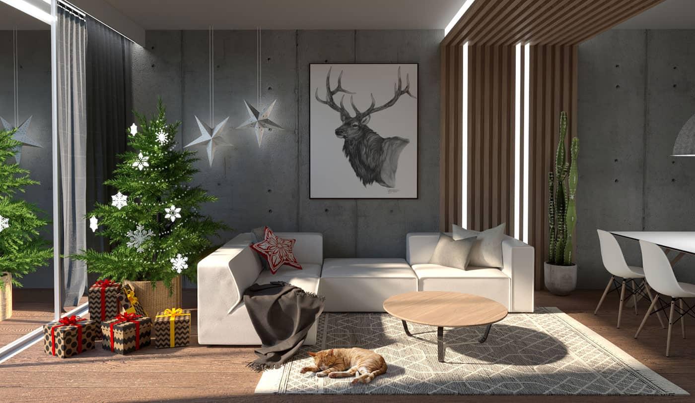 Living room render 1