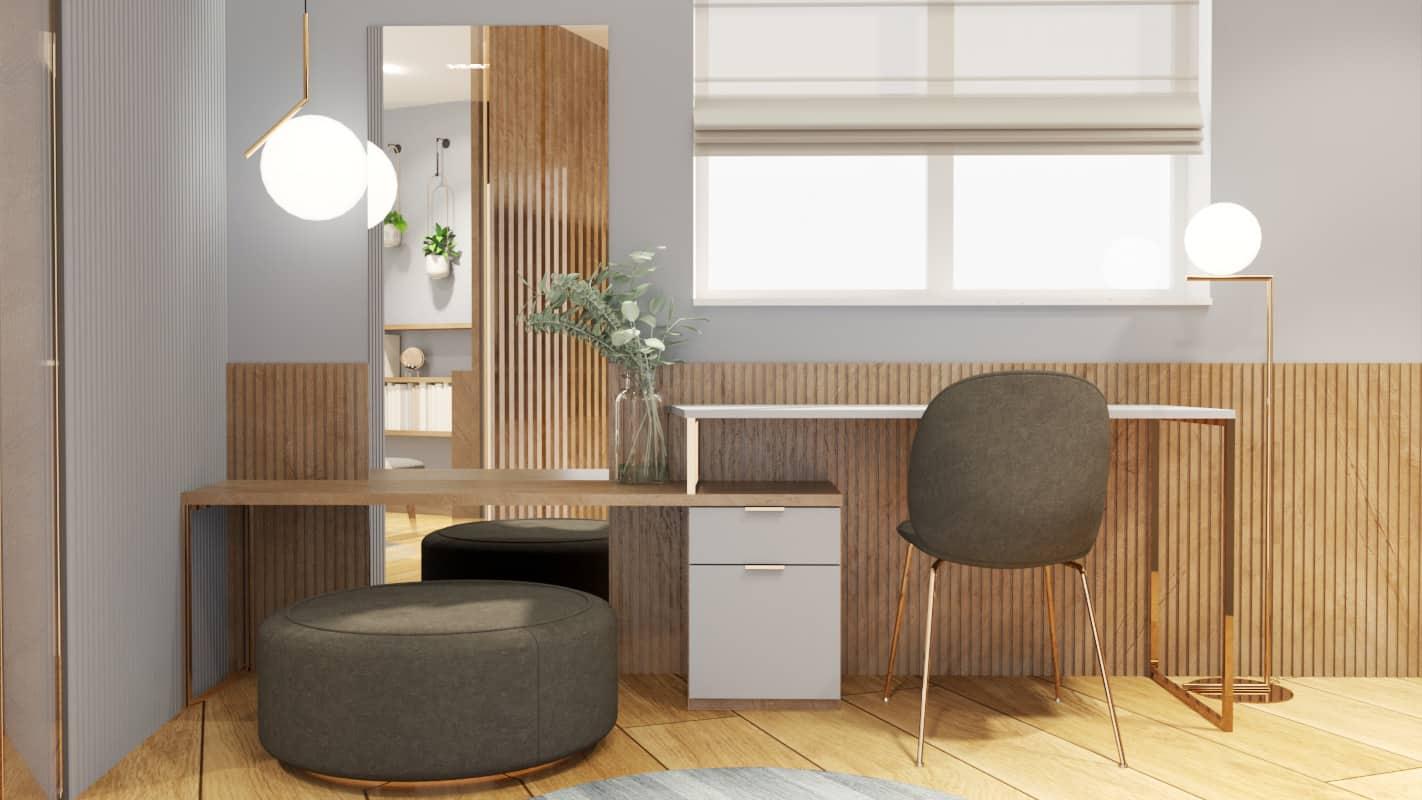 Bedroom walk-in wardrobe project render 1