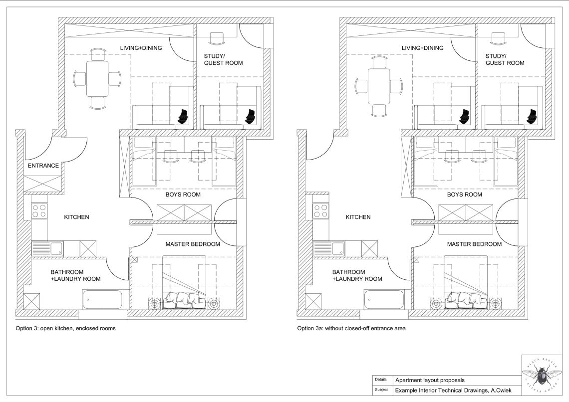 Interior technical drawings apartment1 layouts part2